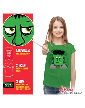 Maglietta Frankenstein arrabbiato per bambini