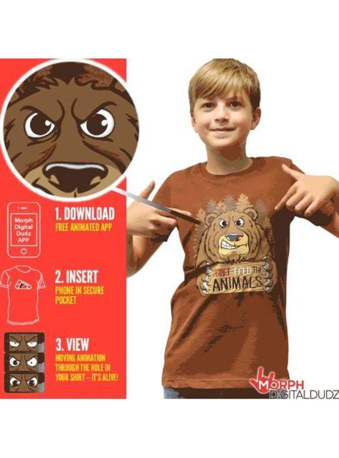 Camiseta de oso hambriento infantil