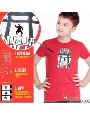 Koszulka ninja w akcji dla dzieci