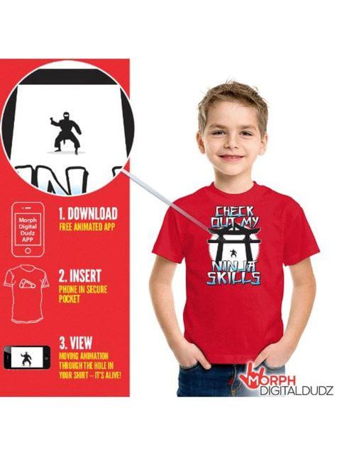 Camiseta de ninja en acción infantil - infantil