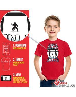 Camiseta de ninja en acción infantil