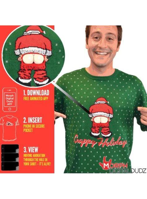 Camisola de Pai Natal descarado para adulto