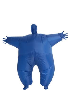 Nafukovací kostým pro dospělé svítící modrý