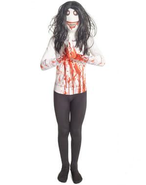 Jeff the Killer Morphsuit Kostüm für Kinder