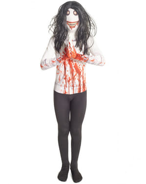 Kidss Jeff the Killer Morphsuit costume