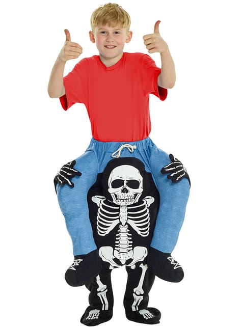 Ride on kostuum levend skelet voor kinderen