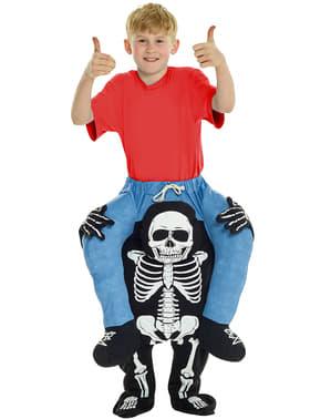 Draag me kostuum dood Skelet voor kinderen