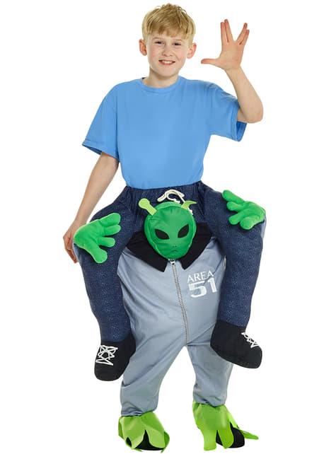 Disfraz de alien camino de abducirme Carry Me infantil