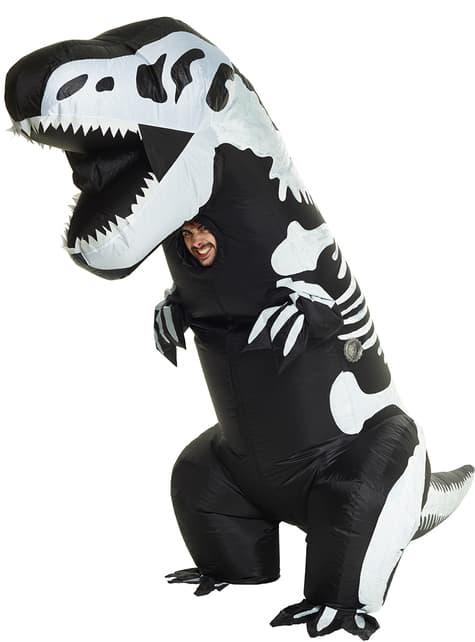 Disfraz de esqueleto de T-Rex hinchable para adulto
