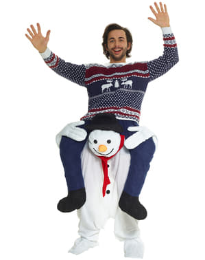 Adult's Snowman Piggyback Costume