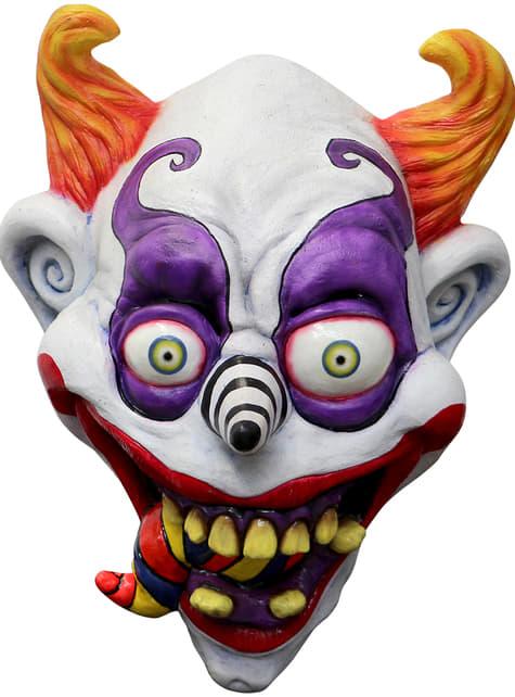 Máscara de payaso psicodélico para adulto