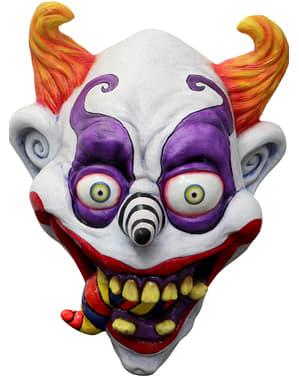 Máscara de palhaço psicadélico para adulto