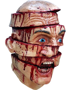 Gefileerd in parten masker van latex voor volwassenen