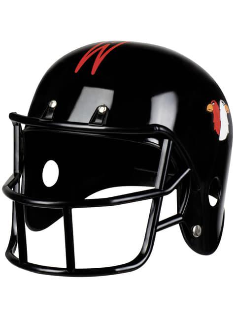 American football helm in zwart voor volwassenen