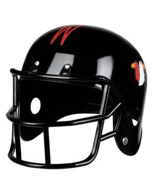 Dospelá čierna prilba amerického futbalu