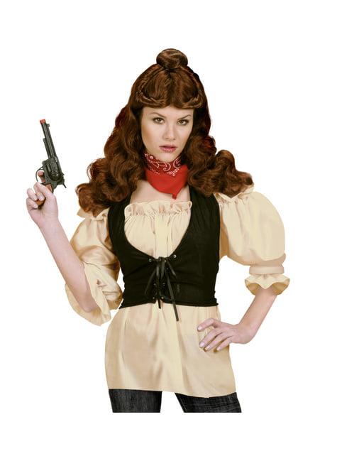 Camisa pirata beige para mujer talla grande - original