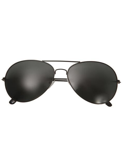 Gafas de aviador negras para adulto