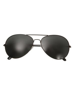 Óculos de aviador pretas para adulto