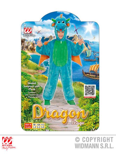 Disfraz de dragón de peluche para niño - original