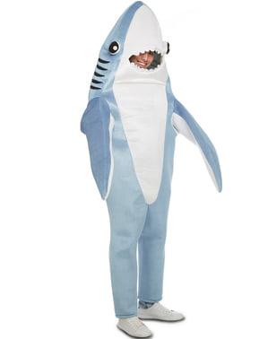 Disfraz de tiburón simpático para adulto