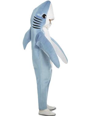 Fato de tubarão simpático para adulto