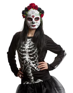Masque Catrina à fleurs femme