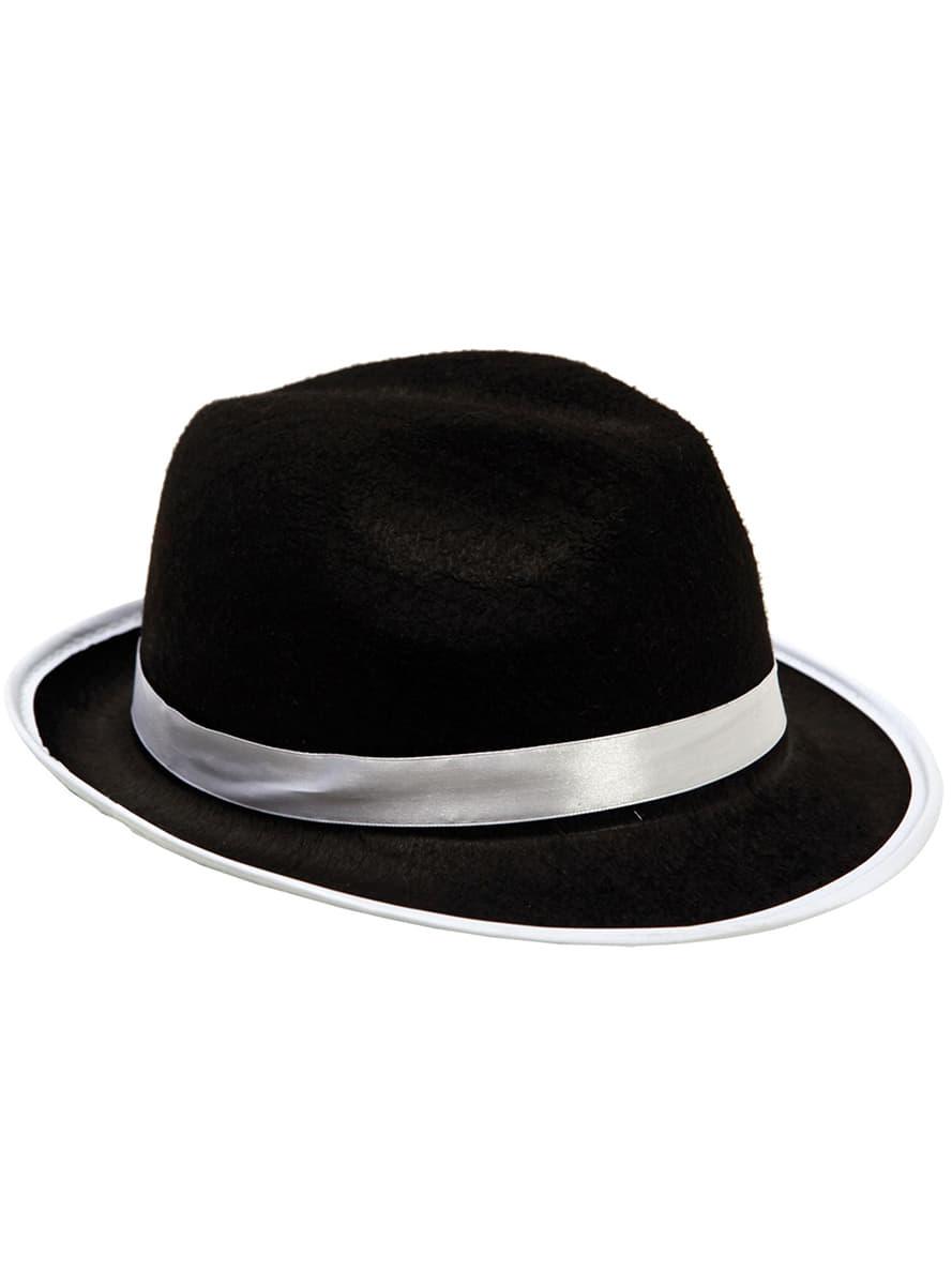 187a8340d7a93 chapéu de gangster com banda branca para adulto. Detalle  Zoom