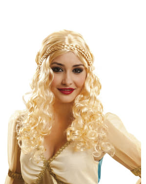 Parrucca da principessa dei draghi per donna