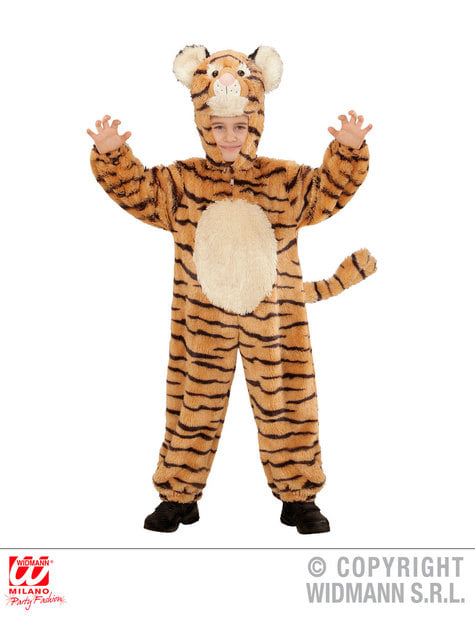 Disfraz de tigre valeroso de peluche infantil