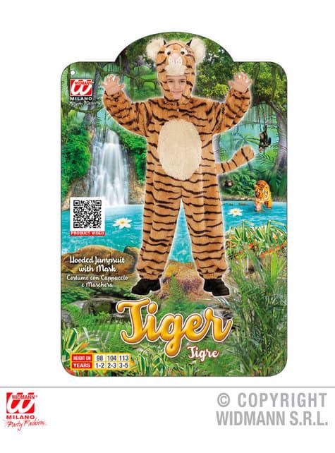 Disfraz de tigre valeroso de peluche infantil - original