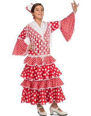 Sevillansk flamenco danserinde kostume til piger