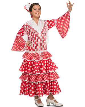 Sevilliansk Flamenco Kostyme for Jente