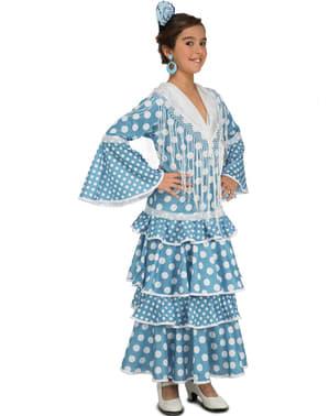 Disfraz de flamenca onubense para niña