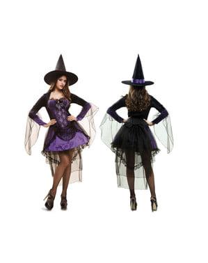 Glamourøs heks kostume til kvinder