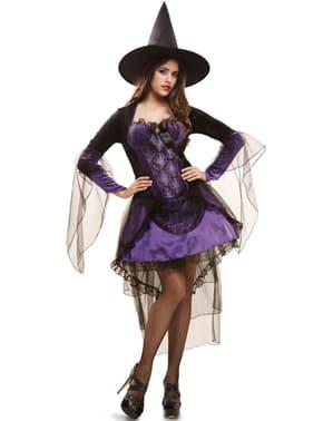 Fato de bruxa glamorosa para mulher
