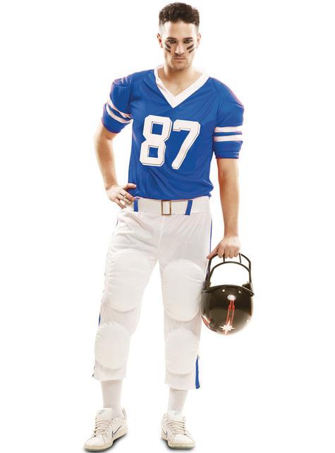 American Football Kostüm blau für Herren