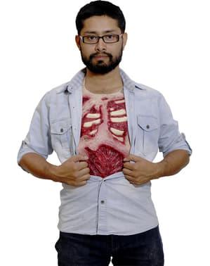 Zombie latex bryst til voksne