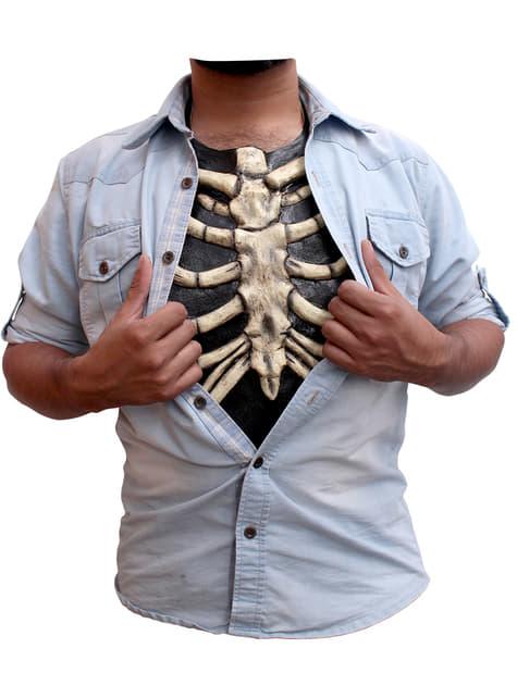 Pecho de látex esqueleto para adulto