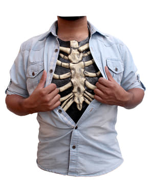 Poitrine en latex squelette adulte