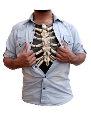 Skelettbrust aus Latex für Erwachsene
