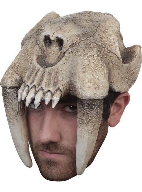 Casco de tigre dientes de sable para adulto