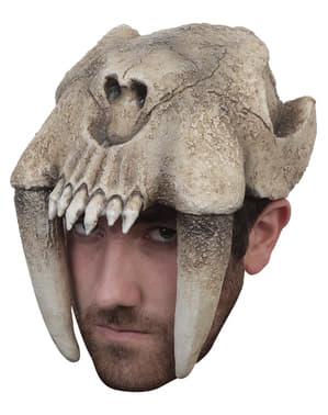 Casque tigre à dents de sabre adulte