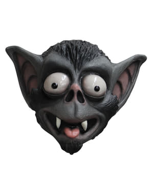Vleermuis masker uitpuilende ogen van latex voor volwassenen