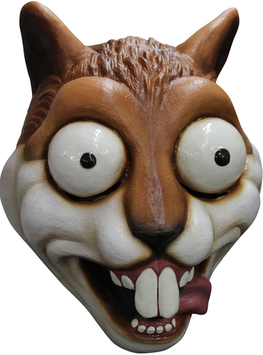 Adults Bulging Eyes Squirrel Latex Mask Express Delivery