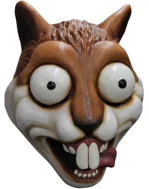 Maschera scoiattolo occhi di fuori in lattice per adulto