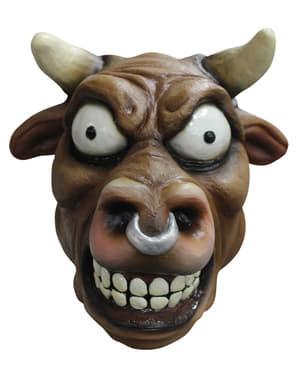 Dolle stier masker van latex voor volwassenen