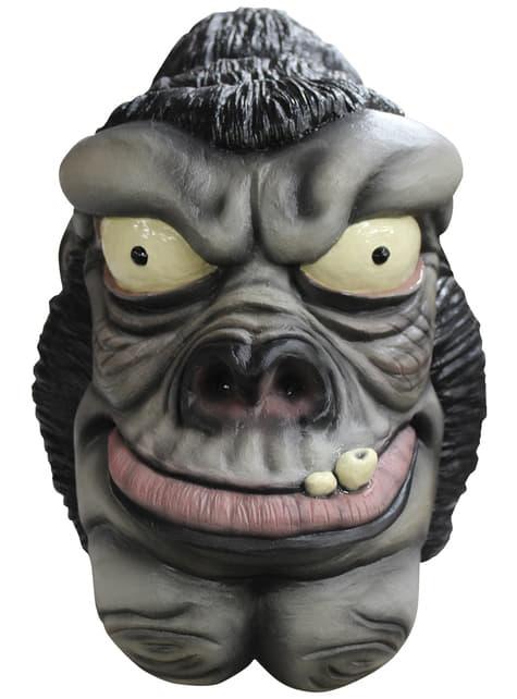 Máscara de gorila de látex para adulto