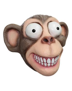 Abe med udstående øjne latex maske til voksne