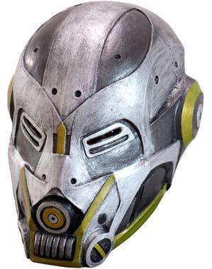 Máscara de robot do futuro de látex para adulto