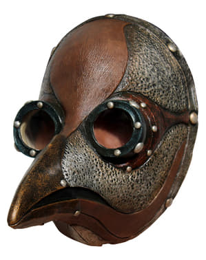 Máscara de médico da peste steampunk para adulto